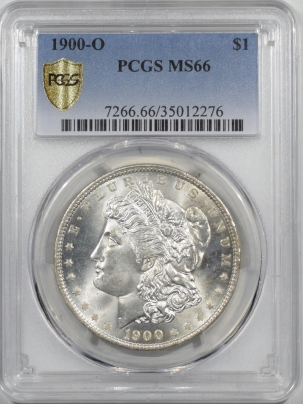 Dollars 1900-O MORGAN DOLLAR PCGS MS-66, FRESH WHITE & PREMIUM QUALITY!