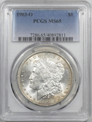 Coin World/Numismatic News Featured Coins 1903-O MORGAN DOLLAR – PCGS MS-65 A FRESH GEM!