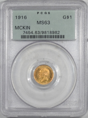 Early Commems 1916 MCKINLEY COMMEMORATIVE GOLD DOLLAR PCGS MS-63 OGH, PQ!
