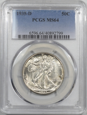 Coin World/Numismatic News Featured Coins 1935-D WALKING LIBERTY HALF DOLLAR – PCGS MS-64
