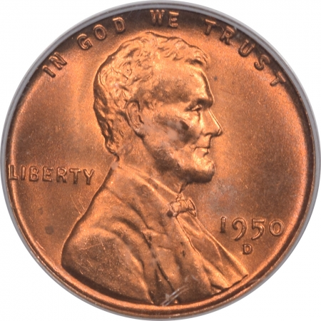 Lincoln Cents (Wheat) 1950-D LINCOLN CENT – PCGS MS-66 RD