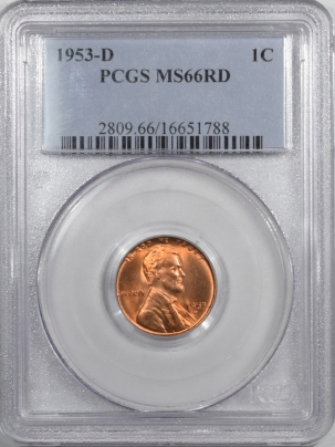 Lincoln Cents (Wheat) 1953-D LINCOLN CENT – PCGS MS-66 RD