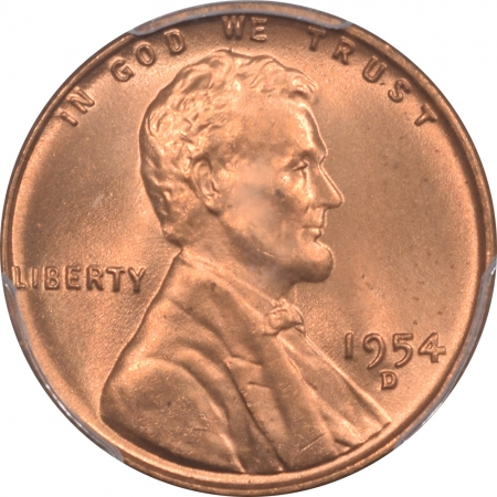 New Certified Coins 1954-D LINCOLN CENT – PCGS MS-66 RD