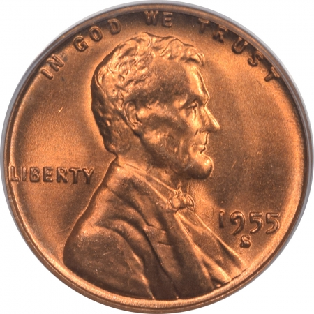 New Certified Coins 1955-S LINCOLN CENT – PCGS MS-66 RD