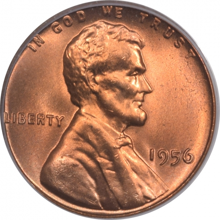 New Certified Coins 1956 LINCOLN CENT – PCGS MS-66 RD