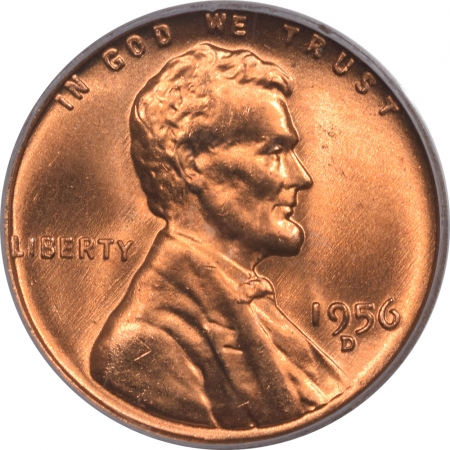New Certified Coins 1956-D LINCOLN CENT – PCGS MS-66 RD