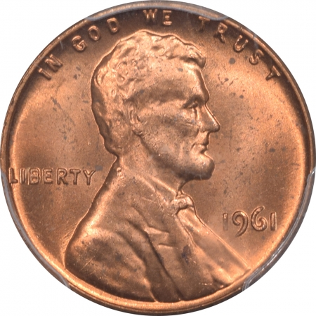 New Certified Coins 1961 LINCOLN CENT PCGS MS-65 RD