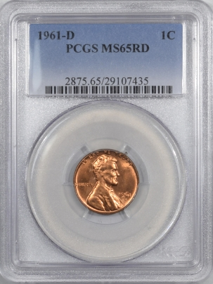 Lincoln Cents (Memorial) 1961-D LINCOLN CENT PCGS MS-65 RD