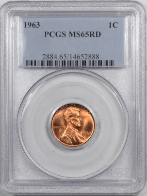 Lincoln Cents (Memorial) 1963 LINCOLN CENT PCGS MS-65 RD