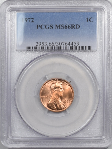 New Certified Coins 1972 LINCOLN CENT PCGS MS-66 RD