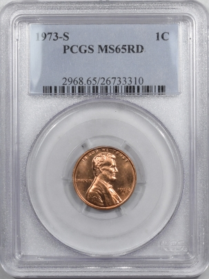 Lincoln Cents (Memorial) 1973-S LINCOLN CENT PCGS MS-65 RD