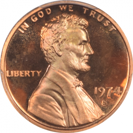 New Certified Coins 1974-S LINCOLN CENT PCGS PR-69 RD DCAM