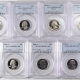 New Certified Coins 1999-S DELAWARE PROOF STATE QUARTER 2 PC SILVER & CLAD SET PCGS PR-69 DCAM, FLAG