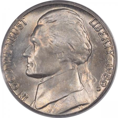 Jefferson Nickels 1980-D JEFFERSON NICKEL – PCGS MS-65 FS
