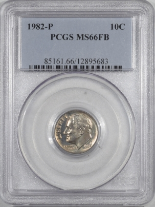 New Certified Coins 1982-P ROOSEVELT DIME – PCGS MS-66 FB