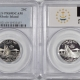 New Certified Coins 2001-S VERMONT PROOF STATE QUARTER 2 COIN SILVER & CLAD SET PCGS PR69 DCAM