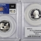 U.S. Certified Coins 2004-S IOWA PROOF STATE QUARTER 2 COIN SILVER & CLAD SET PCGS PR69 DCAM, FLAG