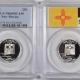 Quarters 2007-S UTAH PROOF STATE QUARTER 2 COIN SILVER & CLAD SET PCGS PR69 DCAM, FLAG