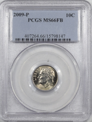 New Certified Coins 2009-P ROOSEVELT DIME – PCGS MS-66 FB