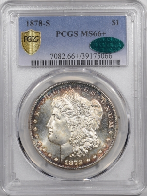 CAC Approved Coins 1878-S MORGAN DOLLAR – PCGS MS-66+ PRETTY, BLAZING LUSTER SUPERB & CAC APPROVED!