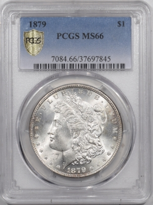 Morgan Dollars 1879 MORGAN DOLLAR – PCGS MS-66 ORIGINAL WHITE & FRESH, PREMIUM QUALITY!