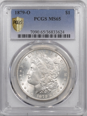 Morgan Dollars 1879-O MORGAN DOLLAR – PCGS MS-65 BLAST WHITE!