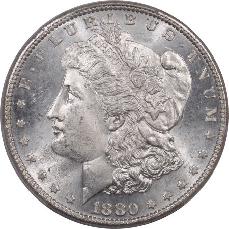 New Certified Coins 1880 8/7 VAM 9, STEM MORGAN DOLLAR – PCGS MS-63 BLAST WHITE!