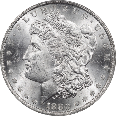 New Certified Coins 1880-O MORGAN DOLLAR – PCGS MS-63+ PREMIUM QUALITY! CAC APPROVED!