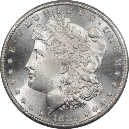U.S. Certified Coins 1880-S MORGAN DOLLAR – PCGS MS-67, BLAST WHITE! SUPERB!
