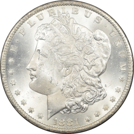 New Certified Coins 1881-CC GSA MORGAN DOLLAR –  NGC MS-64, BLACK BOX & CARD, NEAR GEM! CARSON CITY!