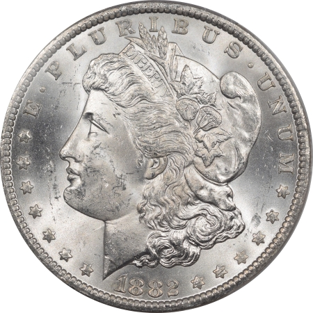 New Certified Coins 1882-CC MORGAN DOLLAR – PCGS MS-63 BLAST WHITE!