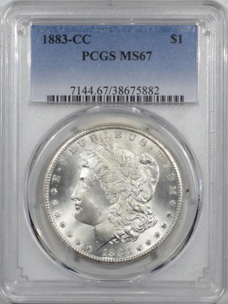 U.S. Certified Coins 1883-CC MORGAN DOLLAR PCGS MS-67, FRESH, ORIGINAL WHITE SUPERB GEM CARSON CITY!