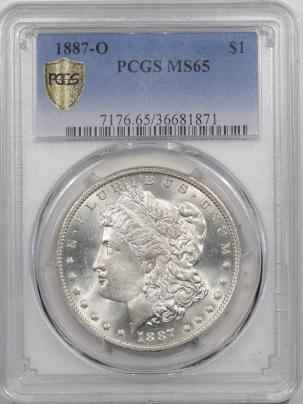 Morgan Dollars 1887-O MORGAN DOLLAR – PCGS MS-65 FRESH WHITE & REALLY NICE!