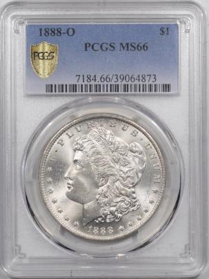 Morgan Dollars 1888-O MORGAN DOLLAR – PCGS MS-66 FRESH & FLASHY, TOUGH!