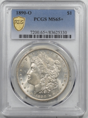 Morgan Dollars 1890-O MORGAN DOLLAR – PCGS MS-65+ ORIGINAL WHITE SUPERB GEM!
