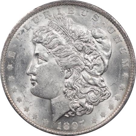 New Certified Coins 1897-O MORGAN DOLLAR – PCGS MS-61 FRESH, REAL BU!