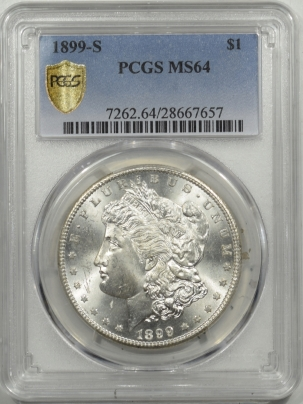 Morgan Dollars 1899-S MORGAN DOLLAR – PCGS MS-64 BLAZING WHITE & PREMIUM QUALITY!