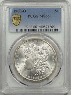 Morgan Dollars 1900-O MORGAN DOLLAR – PCGS MS-66+ BLAZING WHITE SUPERB GEM!
