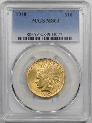 $10 1910 $10 INDIAN HEAD GOLD – PCGS MS-63, FLASHY & CHOICE