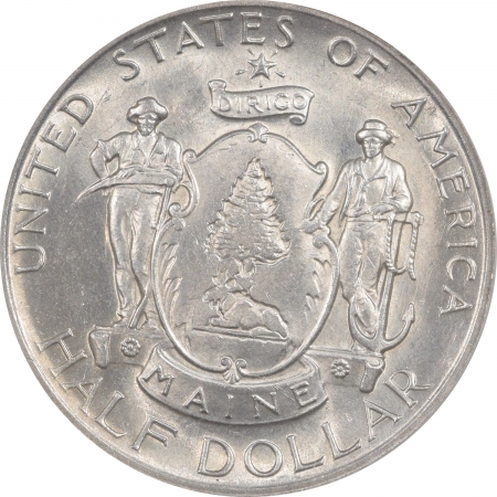 New Certified Coins 1920 MAINE COMMEMORATIVE HALF DOLLAR – ANACS MS-62