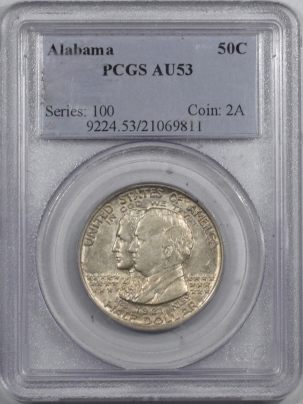 Silver 1921 ALABAMA COMMEMORATIVE HALF DOLLAR – PCGS AU-53