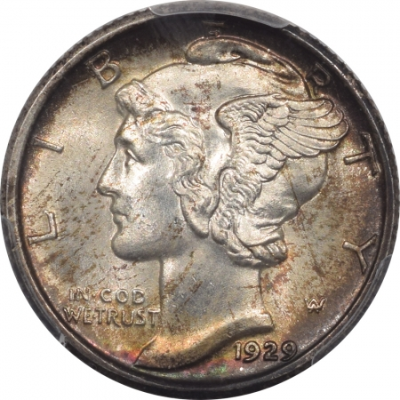 New Certified Coins 1929 MERCURY DIME – PCGS MS-66, PREMIUM QUALITY! LOOKS MS-67!