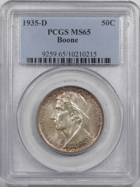 New Certified Coins 1935-D BOONE COMMEMORATIVE HALF DOLLAR – PCGS MS-65 ORIGINAL GEM!