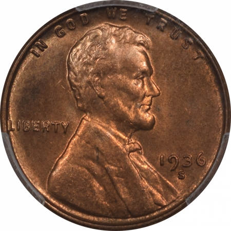 New Certified Coins 1936-S LINCOLN CENT PCGS MS-66 RD