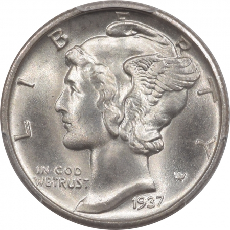 New Certified Coins 1937-D MERCURY DIME – PCGS MS-67+FB, VIRTUALLY PERFECT!