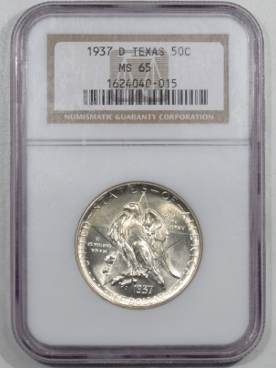 New Certified Coins 1937-D TEXAS COMMEMORATIVE HALF DOLLAR – NGC MS-65 GEM!