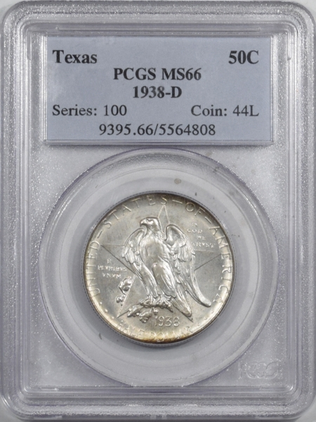 New Certified Coins 1938-D TEXAS COMMEMORATIVE HALF DOLLAR – PCGS MS-66 FRESH & PREMIUM QUALITY!