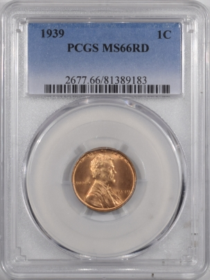Lincoln Cents (Wheat) 1939 LINCOLN CENT – PCGS MS-66 RD