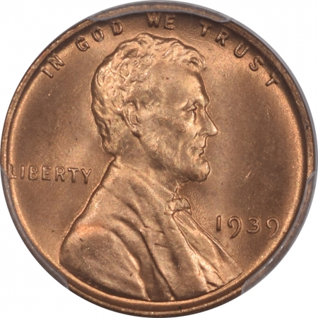 New Certified Coins 1939 LINCOLN CENT – PCGS MS-66 RD