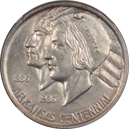 New Certified Coins 1939 ARKANSAS COMMEMORATIVE HALF DOLLAR – NGC MS-64
